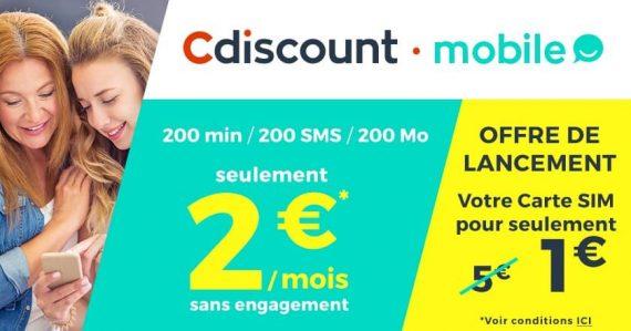 Cdiscount mobile : tarif (novembre 2016)