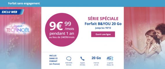 Bouygues Telecom : série limitée 20 Go (Noël 2016)