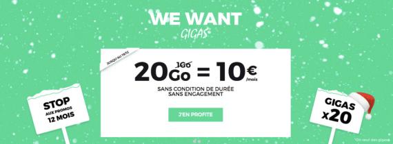 RED by SFR : forfait mobile 20 Go à 10 euros / mois (décembre 2016)