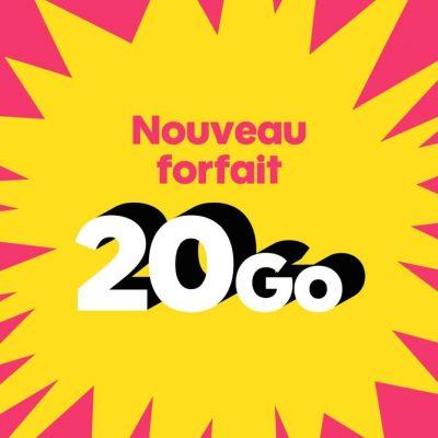 Sosh : nouveau forfait mobile 20 Go (novembre 2016)
