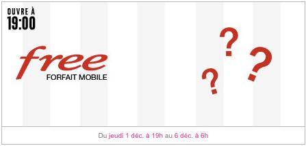 Free mobile : annonce vente privée Free mobile décembre 2016