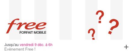 Free mobile : vente privée Free mobile décembre 2016 (prolongation)