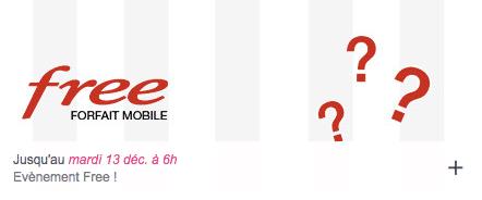 Free mobile : vente privée Free mobile décembre 2016 (2e prolongation)