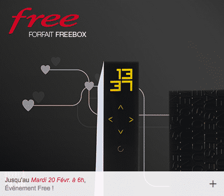 vente priv e 4 99 euros par mois pour la freebox r volution en promotion jusqu 39 au 20 f vrier. Black Bedroom Furniture Sets. Home Design Ideas