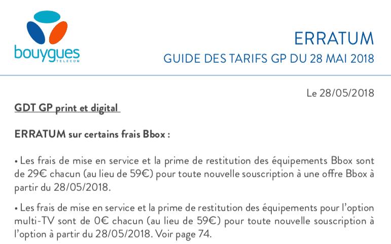 Bbox De Bouygues Telecom Les Frais De Mise En Service Baissent A