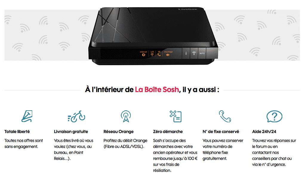 sosh   la box fibre optique  u00e0 19 99 euros par mois pendant