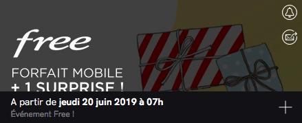 Free mobile : annonce vente privée (juin 2019)