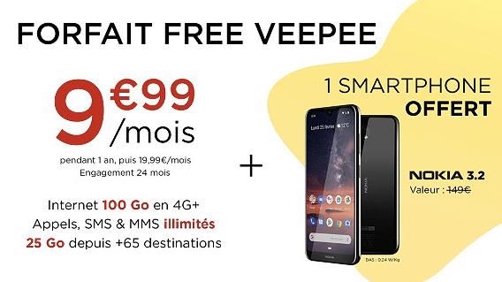 Vente privée Free mobile : détails du forfait 100 Go (juin 2019)