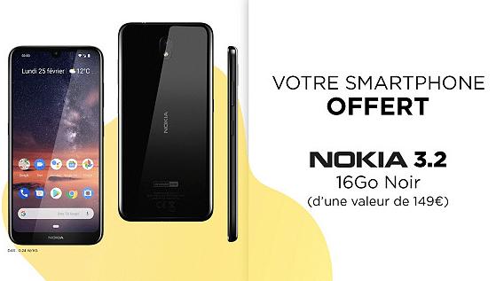 Vente privée Free mobile : smartphone Nokia 3.2 offert (juin 2019)