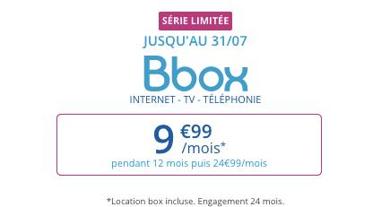 Bouygues Telecom : série limitée Bbox ADSL à 9,99 euros par mois (juillet 2019)