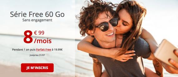 Free mobile : forfait 60 Go en série spéciale (juillet 2019)