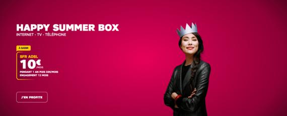 SFR : la série limitée Happy Summer box ADSL à 10 euros par mois (juillet 2019)