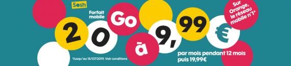 Sosh : promotion sur le forfait mobile 20 Go (juillet 2019)
