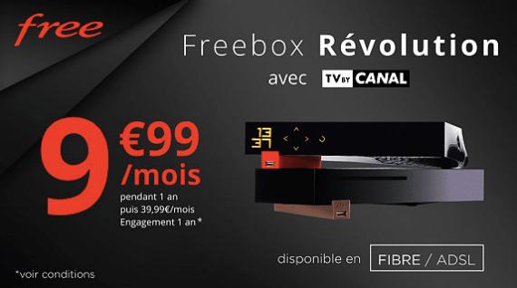 Free : tarif de la vente privée Freebox Révolution (août 2019)