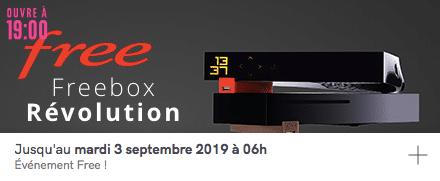 Free : vente privée Freebox Révolution avec TV by CANAL (août 2019)