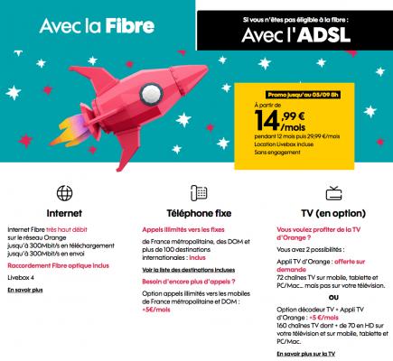 """Sosh : """"La Boîte Sosh"""", la box ADSL ou fibre optique en promotion (juin 2019)"""