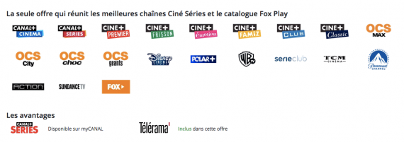CANAL+ : pack CINE/SERIES (septembre 2019)