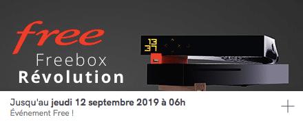 Free : prolongation de la vente privée Freebox Révolution avec TV by CANAL (août / septembre 2019)