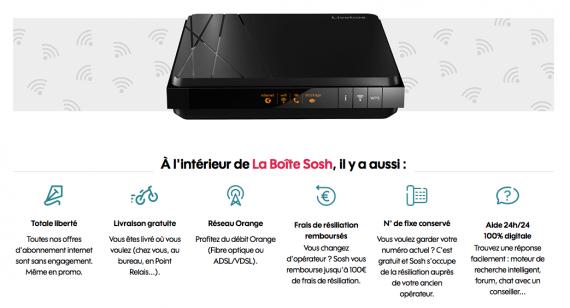 Sosh : La Boîte Internet (octobre 2019)