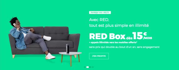 RED by SFR : la box ADSL, fibre optique ou THD avec les appels illimités vers les mobiles offerts (octobre /novembre 2019)