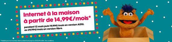 """Sosh : promotion sur """"La Boîte Sosh"""", la box ADSL ou fibre optique (novembre / décembre 2019)"""