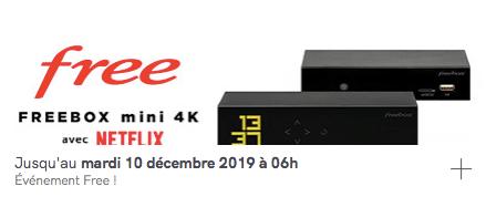 Free : vente privée de la Freebox Mini 4k avec Netflix inclus (décembre 2019)
