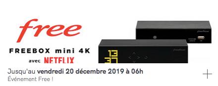 Free : prolongation de la vente privée de la Freebox Mini 4k avec Netflix inclus (décembre 2019)