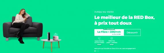RED by SFR : la box ADSL, fibre optique ou THD en promotion avec 1 mois offert (janvier / février 2020)
