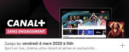 CANAL+ en vente privée à 9,90 euros par mois sans engagement sur Veepee (février / mars 2020)
