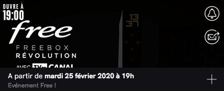 Free : annonce de la vente privée Freebox Révolution avec TV by CANAL (février 2020)