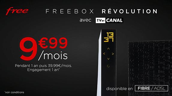 Free : tarif de la vente privée Freebox Révolution (février / mars 2020)