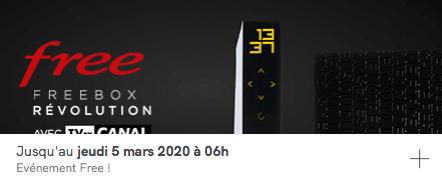Free : vente privée Freebox Révolution avec TV by CANAL (février / mars 2020)