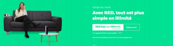 RED by SFR : la box ADSL, fibre optique ou THD avec les appels illimités vers les mobiles offerts (février 2020)
