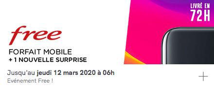 Vente privée Free mobile forfait 100 Go avec smartphone OPPO A5 2020 64 Go offert (mars 2020)