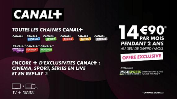 Vente privée CANAL+ : les chaînes (juin 2020)