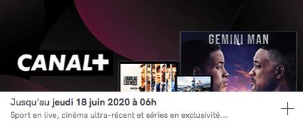 Toutes les chaînes CANAL+ en vente privée à 14,90 euros par mois pendant 1 ans sur Veepee (juin 2020)