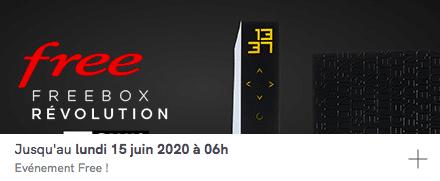 Free : prolongation de la vente privée Freebox Révolution avec TV by CANAL (mai / juin 2020)