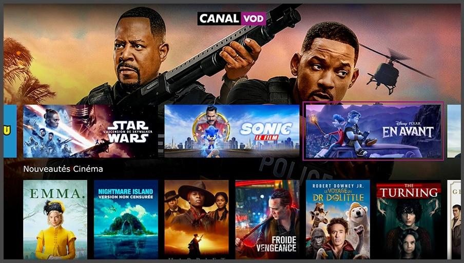 Freebox POP de Free : CANAL VOD (OQEE)