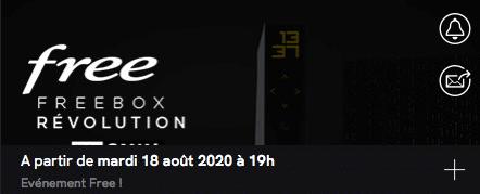 Free : annonce de la vente privée Freebox Révolution avec TV by CANAL (août 2020)