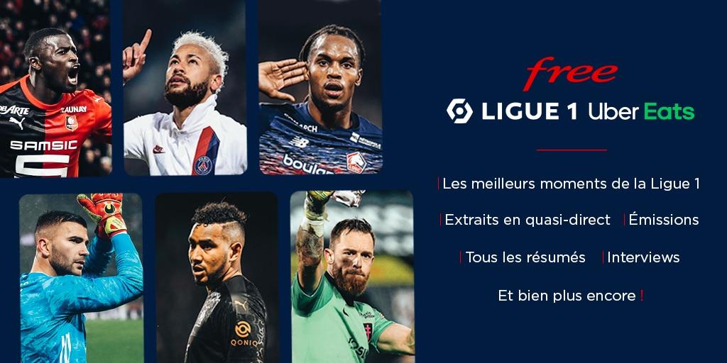 Free Ligue 1 Uber Eats : les contenus