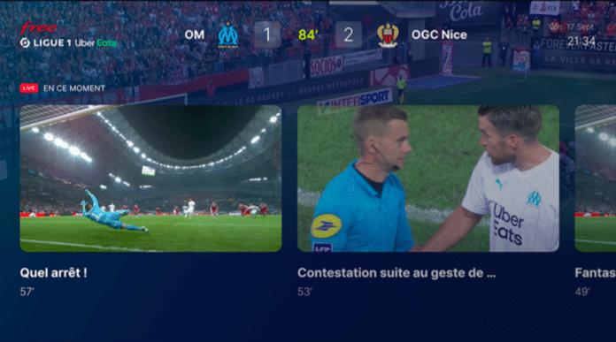 Free Ligue 1 Uber Eats : l'interface