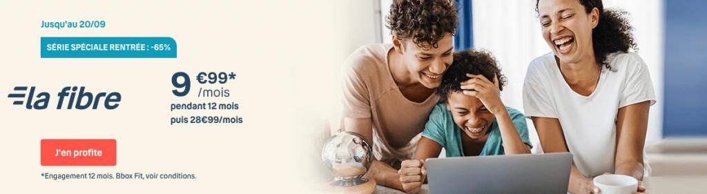 Bouygues Telecom : Bbox série spéciale rentrée à 9,99 euros par mois (septembre 2020)