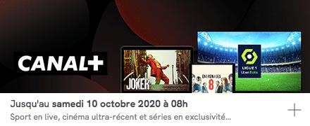 Toutes les chaînes CANAL+ en vente privée à 14,90 euros par mois pendant 1 ans sur Veepee (septembre / octobre 2020)