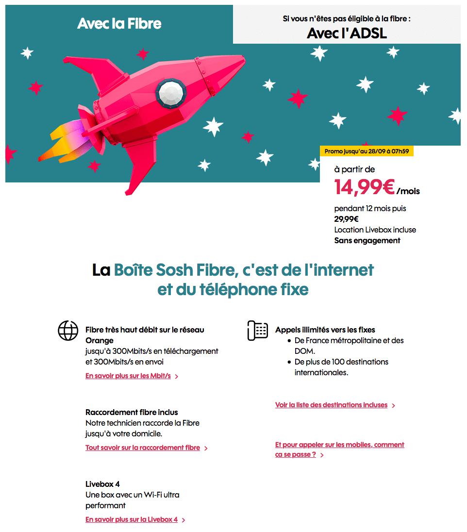 """Sosh : """"La Boîte Sosh"""", la box ADSL ou fibre optique en promotion (septembre 2020)"""
