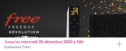 Free : prolongation de la vente privée Freebox Révolution avec TV by CANAL (décembre 2020)