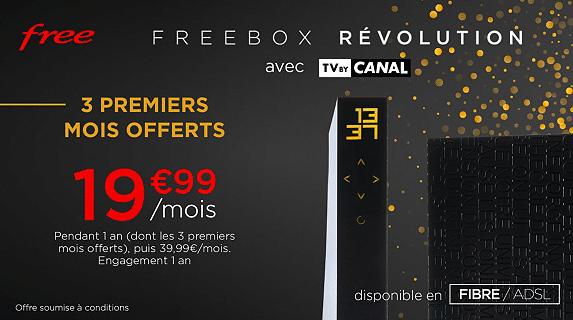 Free : tarif de la vente privée Freebox Révolution (décembre 2020)