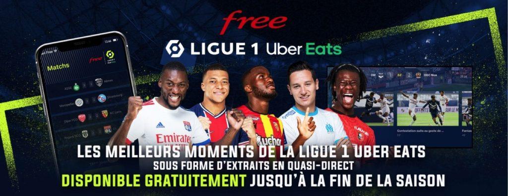 Free Ligue 1 Uber Eats : disponible gratuitement pour toute la saison 2020-2021