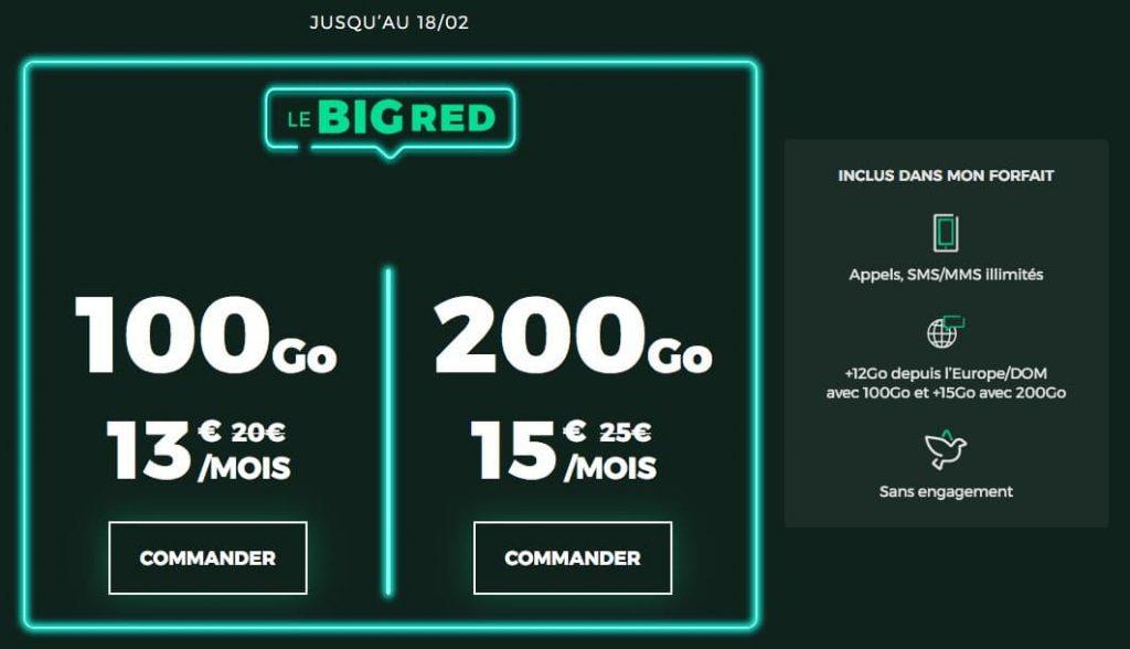 """RED by SFR : retour de l'opération """"BIG RED"""" en matière de forfait mobile (février 2021)"""