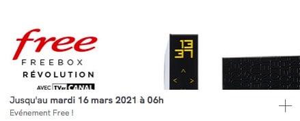 Free : prolongation de la vente privée Freebox Révolution avec TV by CANAL (mars 2021)