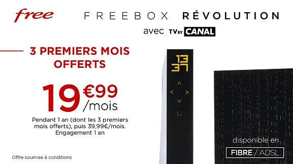 Free : tarif de la vente privée Freebox Révolution (mars 2021)